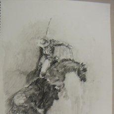 Arte: ACUARELA ORIGINAL TEMA DE TAUROMAQUIA DE EMILIO CARBONELL. Lote 157337110