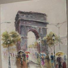 Arte: ACUARELA ORIGINAL DE PARIS DE EMILIO CARBONELL. Lote 157338826