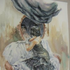 Arte: ACUARELA ORIGINAL DE EMILIO CARBONELL. Lote 157339834