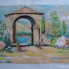 Arte: ACUARELA FIRMADA POR M. MADRID EN 1952. Lote 157392489