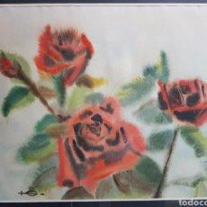 Arte: SERIE ROSAS POR GUERAU O GERARD CALABIA (1938-2011). Lote 157926869