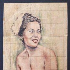 Arte: MARAVILLOSO RETRATO ORIGINAL DE UNA BELLA JOVEN DE LA MARTINICA, INFLUENCIAS GAUGUIN. Lote 158230030