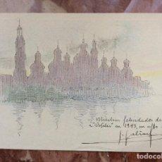 Arte: ACUARELA Y GRAFITO 1943. Lote 158702958