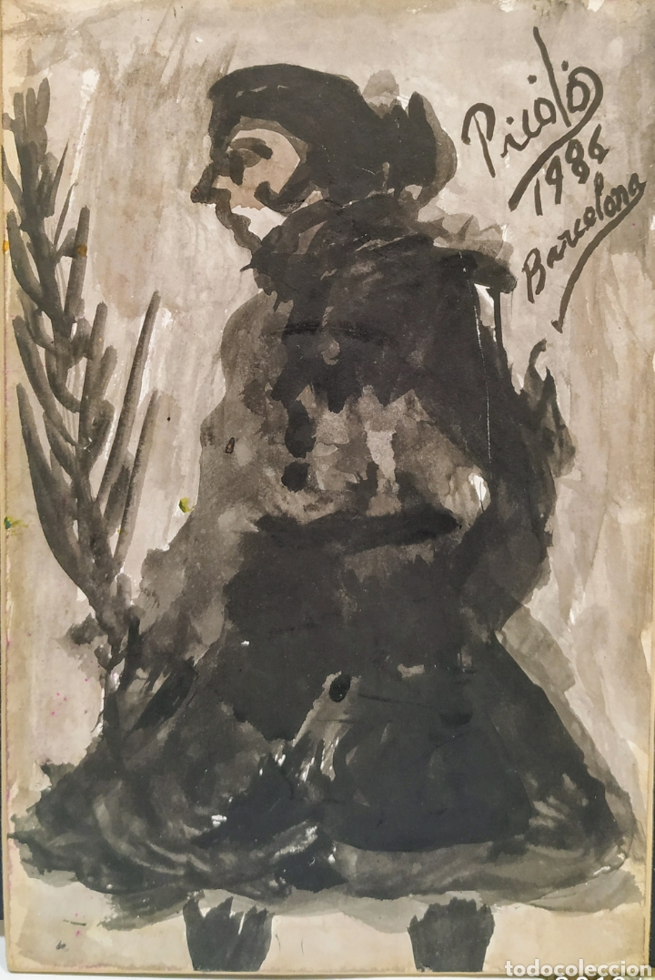 PEQUEÑA ACUARELA (Arte - Acuarelas - Antiguas hasta el siglo XVIII)