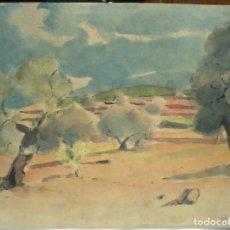 Arte: DOS ACUARELAS, TORREBLANCA 6/28-38, . Lote 158736538