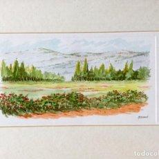 Arte: ACUARELA DE TEMÁTICA PAISAJÍSTICA FIRMADAS ARMAND. Lote 159199986