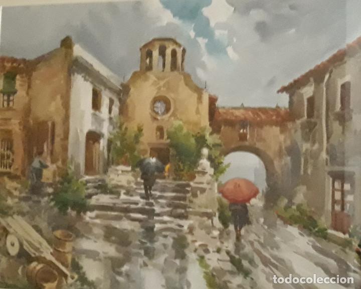 MARIANO BRUNET COLL (1918-1999) - PASAJE - ACUARELA - (Arte - Acuarelas - Contemporáneas siglo XX)
