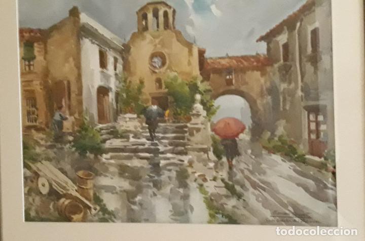 Arte: MARIANO BRUNET COLL (1918-1999) - PASAJE - ACUARELA - - Foto 4 - 159649718