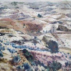 Arte: PAISAJE, FIRMADO VILLAVERDE, 76.. Lote 159725742