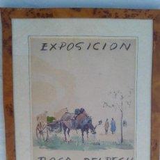 Arte: ACUARELA RALIZADA PARA UNA EXPOSICION JAUME ROCA I DELPECH OBRA ORIGINAL DEL ARTISTA. Lote 159891898