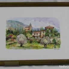 Arte: ACUARELA,CARTUJA DE VALLDEMOSA, MALLORCA, HORANS,NUMERADA,DIMENSIONES: 38 X 28 CM.. Lote 160159426