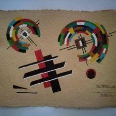 Arte: GOUACHE ESCUELA SUPREMATISTA RUSA SIGLO XX. Lote 160265102