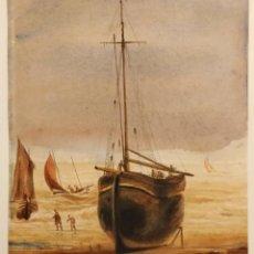 Arte: MARAVILLOSA ACUARELA ORIGINAL DE MEDIADOS DEL SIGLO XIX, CIRCA 1850. Lote 160371150