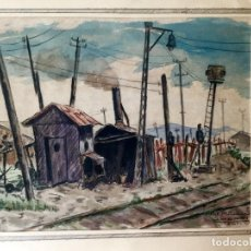 Arte: OBRA FIGURATIVA FIRMADA J.MARTÍ Y FECHADA EN 1941. Lote 194158547