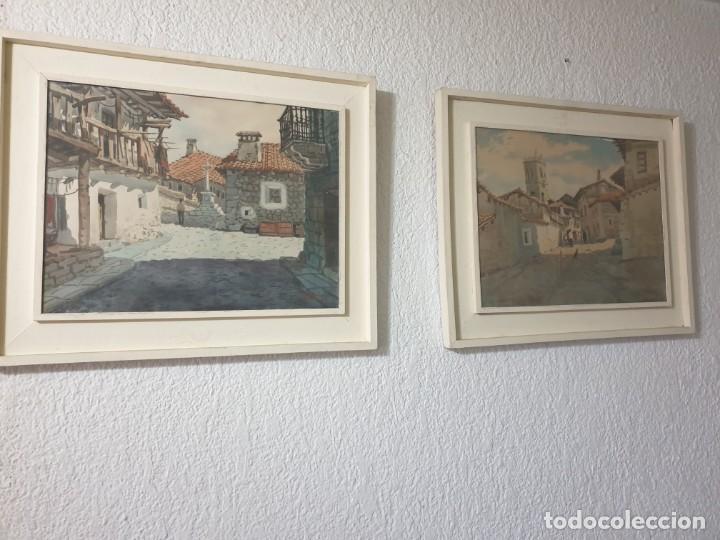 Arte: DOS CUADROS DE PEDRO VILARROIG, ACUARELA - Foto 2 - 160551862