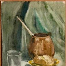 Arte: NATURALEZA MUERTA DEL DIBUJANTE Y ACUARELISTA FRANCESC SANDIUMENGE I GAY (BCN 1930-2017). Lote 160646490