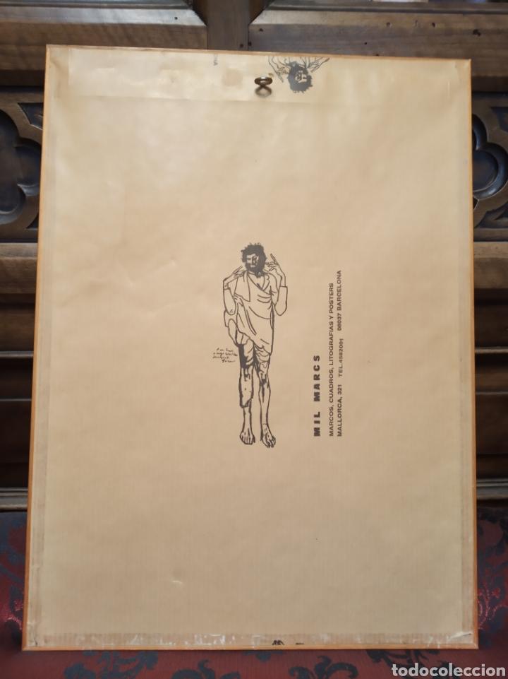 Arte: Obra técnica mixta sobre serigrafía abstracta. Firmada Ríos.17x12 cm. - Foto 5 - 160667414