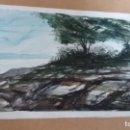 Arte: ACUARELA IMPRESIONISTA, PAISAJE RURAL, LANDSCAPE, FIRMADO RENO. Lote 160984382