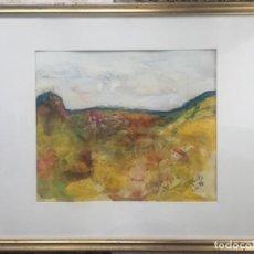 Arte: ERNST POSCH , OBRA ORIGINAL , ACUARELA , AUSTRIA , 1988. Lote 161101190