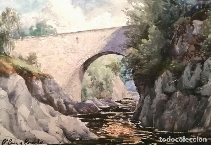 BONAVENTURA PUIG PERUCHO (BARCELONA, 1886 - 1977) (Arte - Acuarelas - Contemporáneas siglo XX)