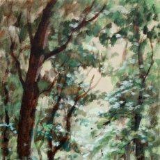 Arte: JOAQUIM MARSILLACH I CODONY (OLOT, GERONA, 1905 - 1986) TECNICA MIXTA SOBRE PAPEL. PAISAJE. Lote 161244218