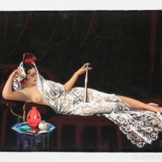 Arte: EMILI VILÀ (LLAGOSTERA 1887-1967) DESNUDO CON MANTILLA. ACUARELA SOBRE CARTÓN 46X61CM.. Lote 161268746