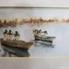 Arte: MARINA DE PESCADORES POR RIUS GIRONA. Lote 161466576