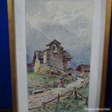 Arte: ACUARELA DE BUENAVENTURA POLLES I VIVO(1857-1917).1913.. Lote 161502986