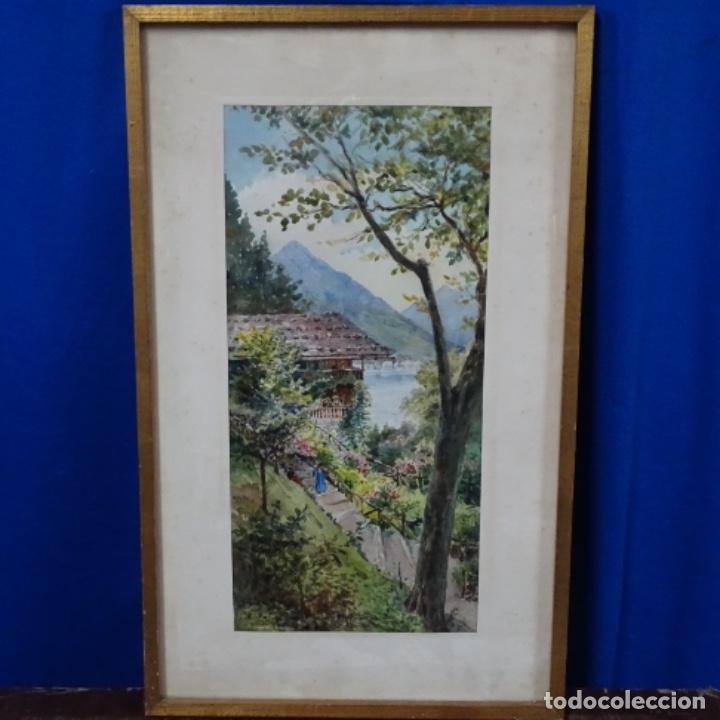 Arte: Acuarela de buenaventura polles i vivo(1857-1917).rütli. - Foto 2 - 161503094
