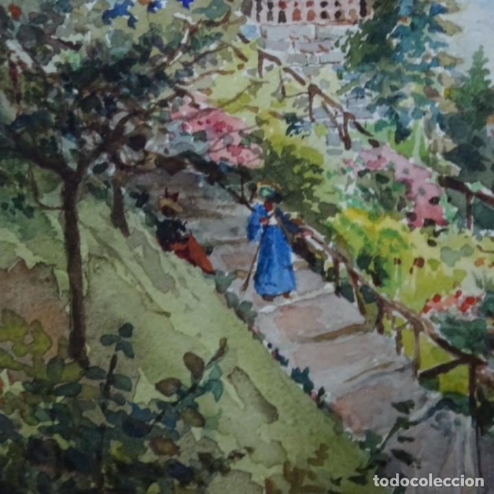 Arte: Acuarela de buenaventura polles i vivo(1857-1917).rütli. - Foto 5 - 161503094
