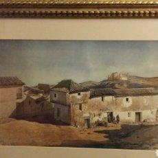 Arte: CUADRO BALDOMERO GALOFRE 1849-1902. PAISAJE RURAL ACUARELA SOBRE PAPEL FIRMADO .. Lote 161918766