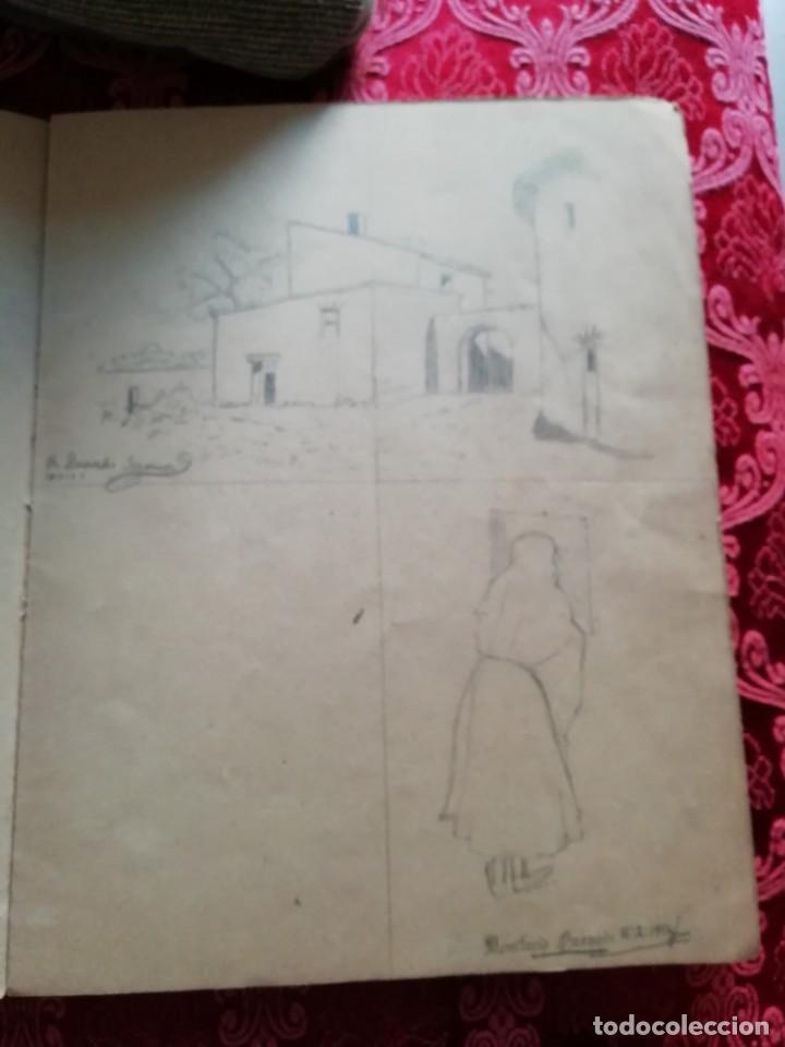 Arte: cuaderno con 6 dibujos ,acuarelas de bonifacio quevedo años 1910-1912 Barros (cantabria ) - Foto 4 - 162015698