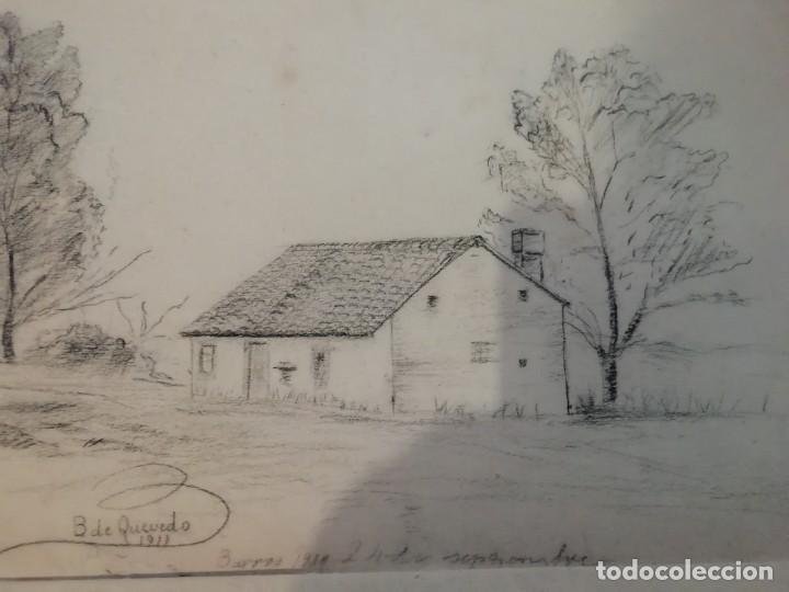 Arte: cuaderno con 6 dibujos ,acuarelas de bonifacio quevedo años 1910-1912 Barros (cantabria ) - Foto 6 - 162015698