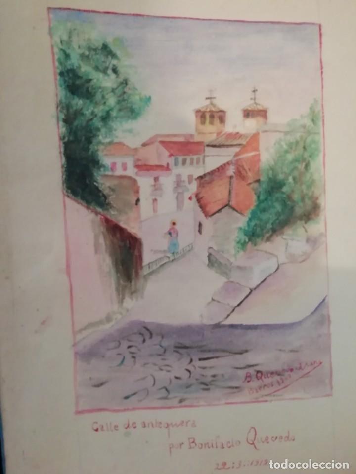 Arte: cuaderno con 6 dibujos ,acuarelas de bonifacio quevedo años 1910-1912 Barros (cantabria ) - Foto 7 - 162015698