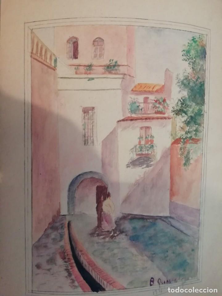 Arte: cuaderno con 6 dibujos ,acuarelas de bonifacio quevedo años 1910-1912 Barros (cantabria ) - Foto 8 - 162015698