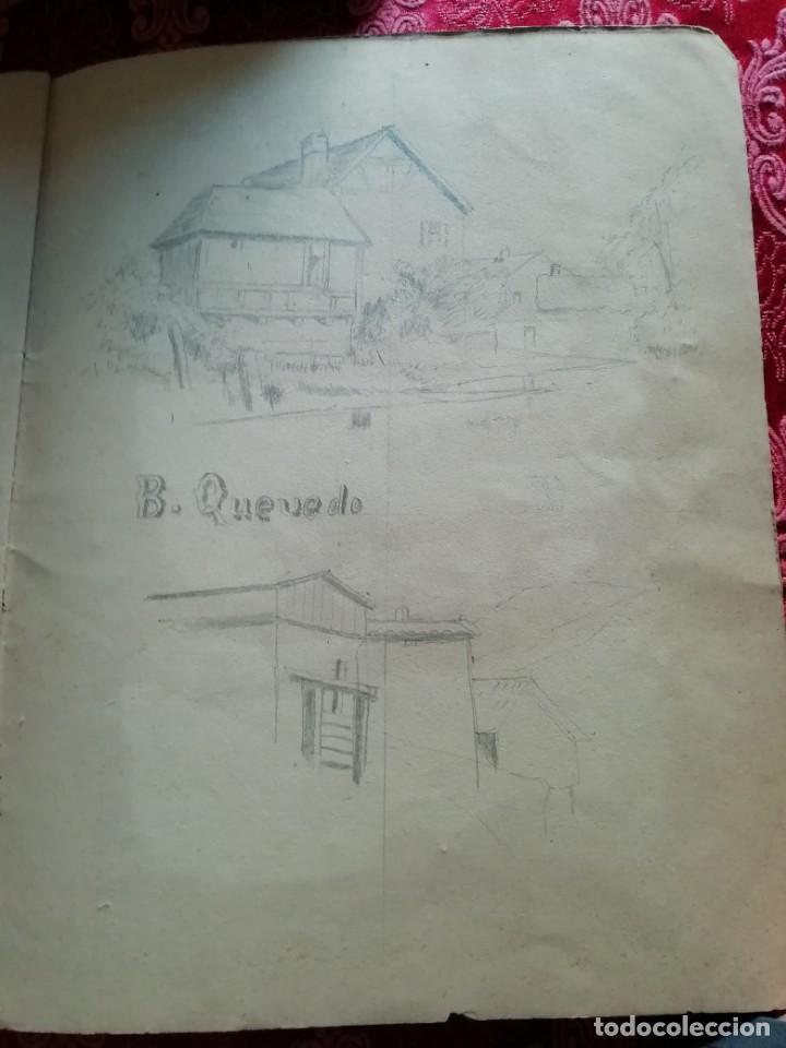 Arte: cuaderno con 6 dibujos ,acuarelas de bonifacio quevedo años 1910-1912 Barros (cantabria ) - Foto 10 - 162015698