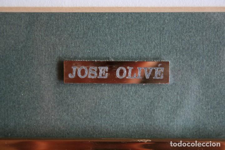 Arte: JOSÉ OLIVE- JOSEP OLIVE ( BARCELONA 1944 ) PRECIOSA ACUARELA , BARCAS EN EL PUERTO. - Foto 4 - 163862862