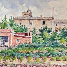 Arte: EL MAS MONTSERRAT. ACUARELA SOBRE PAPEL. ATRIB. JULIÁN DEL POZO Y LA ORDEN. ESPAÑA. XIX-XX. Lote 164723490