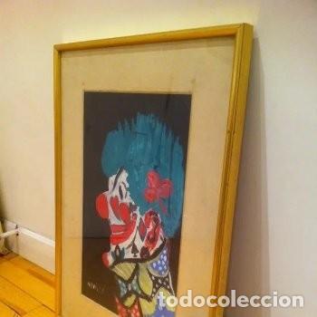 Arte: CUADRO PINTURA DE EDGAR NEVILLE, RETRATO DE PAYASO. ACUARELA SOBRE CARTÓN SIN FECHA. ENMARCADO NUEVO - Foto 23 - 165158634