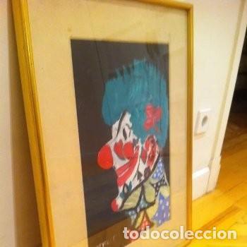Arte: CUADRO PINTURA DE EDGAR NEVILLE, RETRATO DE PAYASO. ACUARELA SOBRE CARTÓN SIN FECHA. ENMARCADO NUEVO - Foto 22 - 165158634