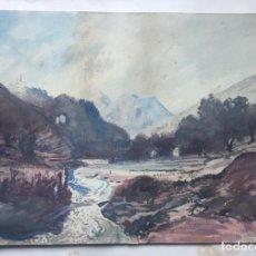Arte: FERNAND COMBES (1856-1943) PINTOR FRANCES. DIBUJO ACUARELA SOBRE PAPEL . Lote 165212938