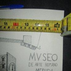 Arte: PLANOS MUSEO ARTE ROMANO MERIDA DIBUJO FIRMA LEIVA FACHADA ANTIGUO ORIGINAL PLUMILLA. Lote 110117515