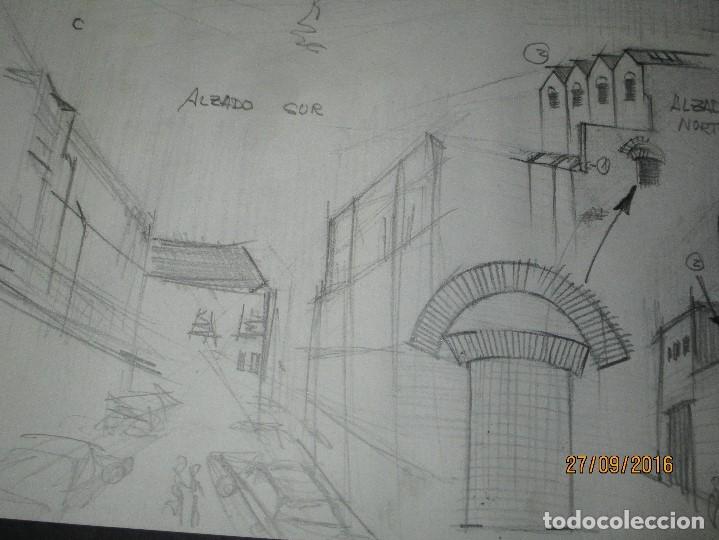 Arte: PLANOS MUSEO ARTE ROMANO MERIDA DIBUJO FIRMA LEIVA FACHADA ANTIGUO ORIGINAL PLUMILLA - Foto 15 - 110117515