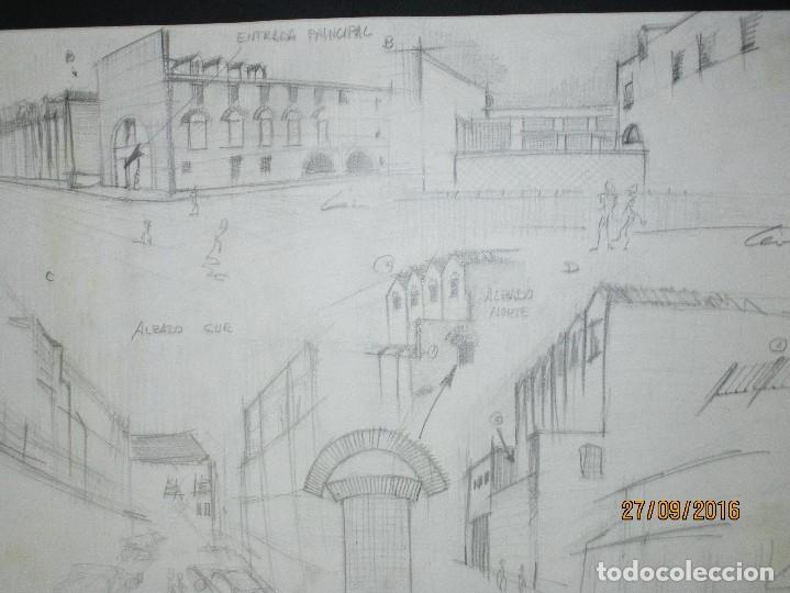 Arte: PLANOS MUSEO ARTE ROMANO MERIDA DIBUJO FIRMA LEIVA FACHADA ANTIGUO ORIGINAL PLUMILLA - Foto 19 - 110117515