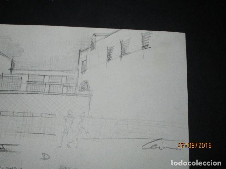Arte: PLANOS MUSEO ARTE ROMANO MERIDA DIBUJO FIRMA LEIVA FACHADA ANTIGUO ORIGINAL PLUMILLA - Foto 21 - 110117515