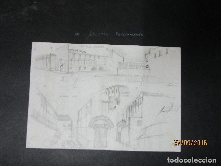 Arte: PLANOS MUSEO ARTE ROMANO MERIDA DIBUJO FIRMA LEIVA FACHADA ANTIGUO ORIGINAL PLUMILLA - Foto 14 - 110117515
