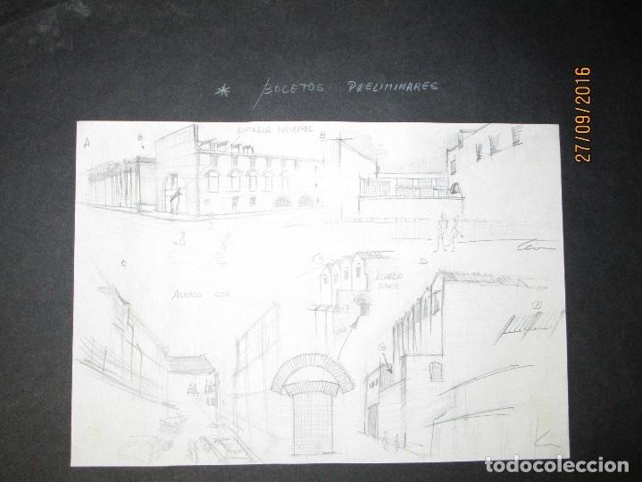Arte: PLANOS MUSEO ARTE ROMANO MERIDA DIBUJO FIRMA LEIVA FACHADA ANTIGUO ORIGINAL PLUMILLA - Foto 20 - 110117515