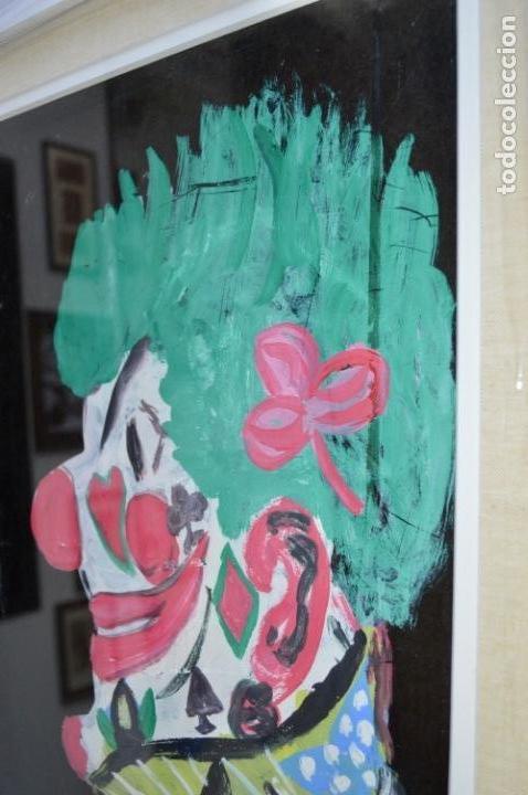 Arte: CUADRO PINTURA DE EDGAR NEVILLE, RETRATO DE PAYASO. ACUARELA SOBRE CARTÓN SIN FECHA. ENMARCADO NUEVO - Foto 13 - 165158634