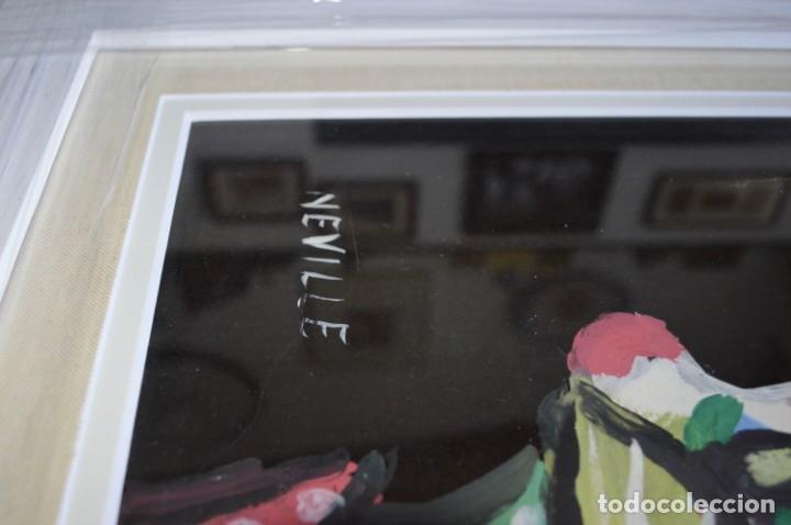 Arte: CUADRO PINTURA DE EDGAR NEVILLE, RETRATO DE PAYASO. ACUARELA SOBRE CARTÓN SIN FECHA. ENMARCADO NUEVO - Foto 8 - 165158634