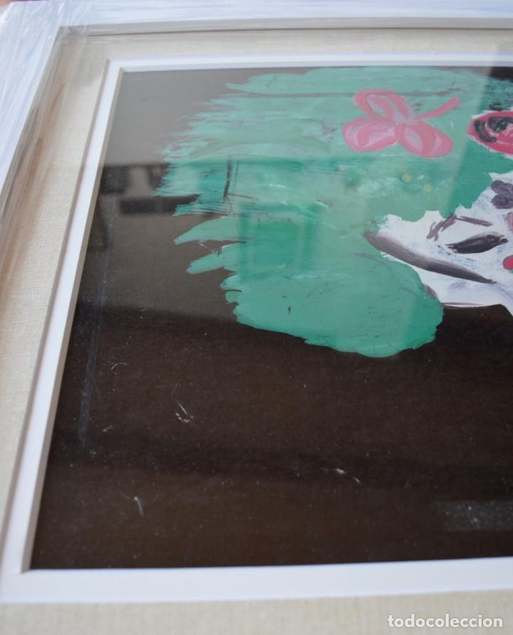 Arte: CUADRO PINTURA DE EDGAR NEVILLE, RETRATO DE PAYASO. ACUARELA SOBRE CARTÓN SIN FECHA. ENMARCADO NUEVO - Foto 14 - 165158634